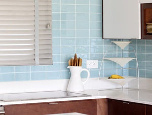 Modwalls Lush Glass Subway Tile | Vapor 3x6
