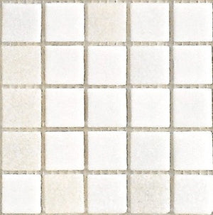 Sample of Brio Blend White Linen - Glass Mosaic Tile