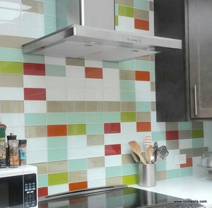 Modwalls Lush Glass Subway Tile | Cloud 3x6