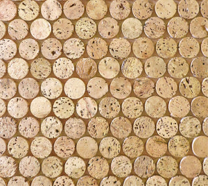 Modwalls CorkDotz Cork Penny Round Tile | Round Tile | Brown | Modern tile for backsplashes, kitchens, bathrooms, showers, pools, outdoor and floors