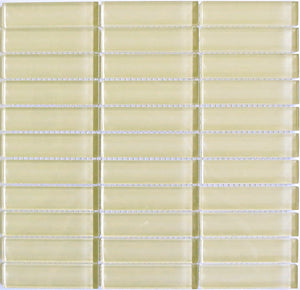 Modwalls Lush Glass Subway Tile | Almond 1x4 | Modern tile for backsplashes, kitchens, bathrooms, showers