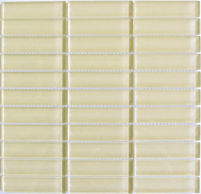 Lush Glass Subway Tile | Almond 1x4