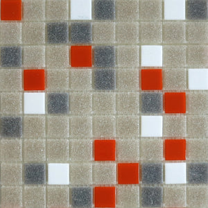 Modwalls Brio Glass Mosaic Tile | Midcentury Blend | Modern tile for backsplashes, kitchens, bathrooms, showers, pools, outdoor and floors