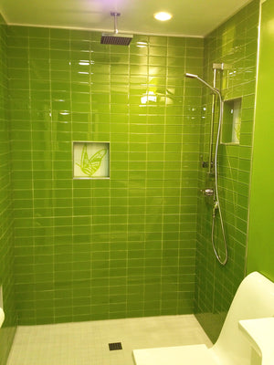 Modwalls Lush Glass Subway Tile | Lemongrass 3x6