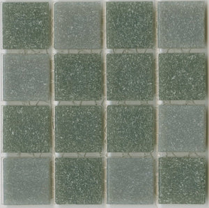 Sample of Brio Blend Rio Rancho - Gray Glass Mosaic Tile