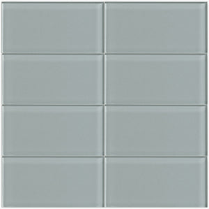 Modwalls Lush Glass Subway Tile | Fog Bank 3x6 | Modern tile for backsplashes, kitchens, bathrooms, showers