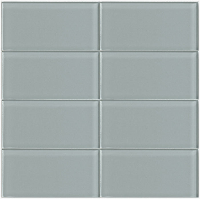 Lush Glass Subway Tile | Fog Bank 3x6
