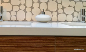Modwalls Rex Ray Studio Rox Lunar Tile | White | Modern tile for backsplashes, kitchens, bathrooms, showers, pools, outdoor and floors