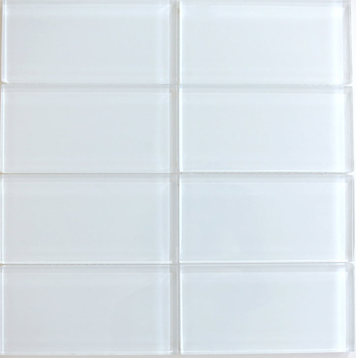 Lush Glass Subway Tile | Cloud 3x6