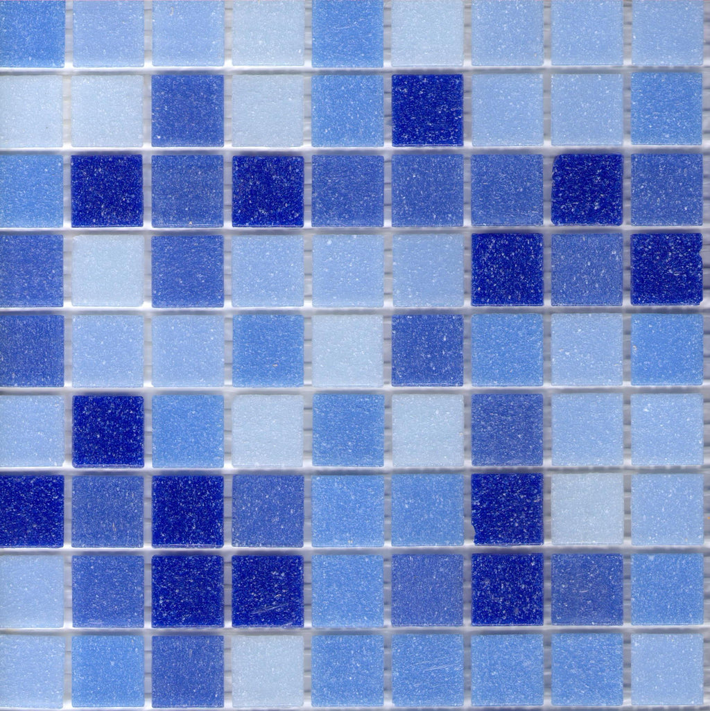 Modwalls Brio Blend Newport - Blue Glass Mosaic Tile