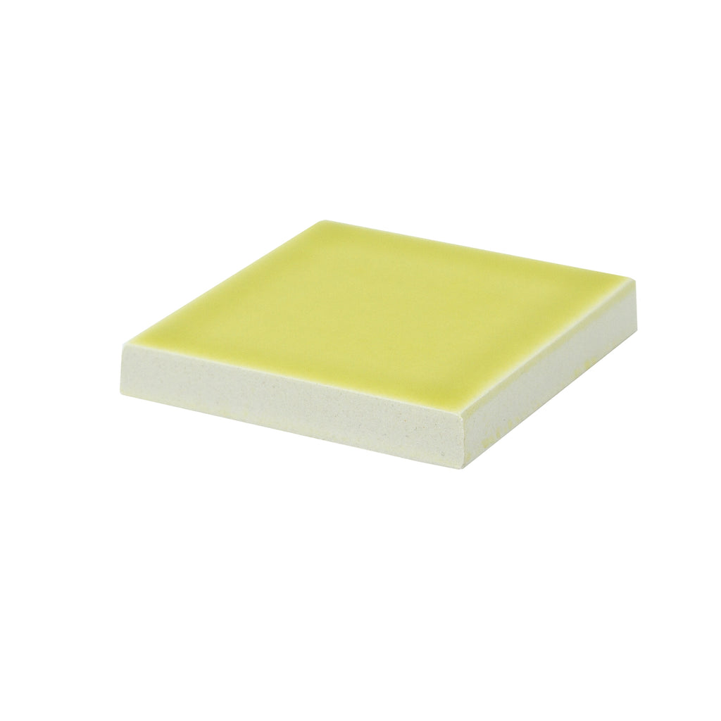 Modwalls Sample Kiln/Clayhaus Ceramic Collections Color Chip | Limoncello Yellow