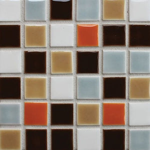 Modwalls Sample Clayhaus Ceramic Mosaic Stacked 1x1 Tile