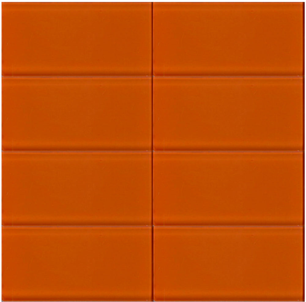 Modwalls Lush Glass Subway Tile | Poppy 3x6 | Modern tile for backsplashes, kitchens, bathrooms, showers