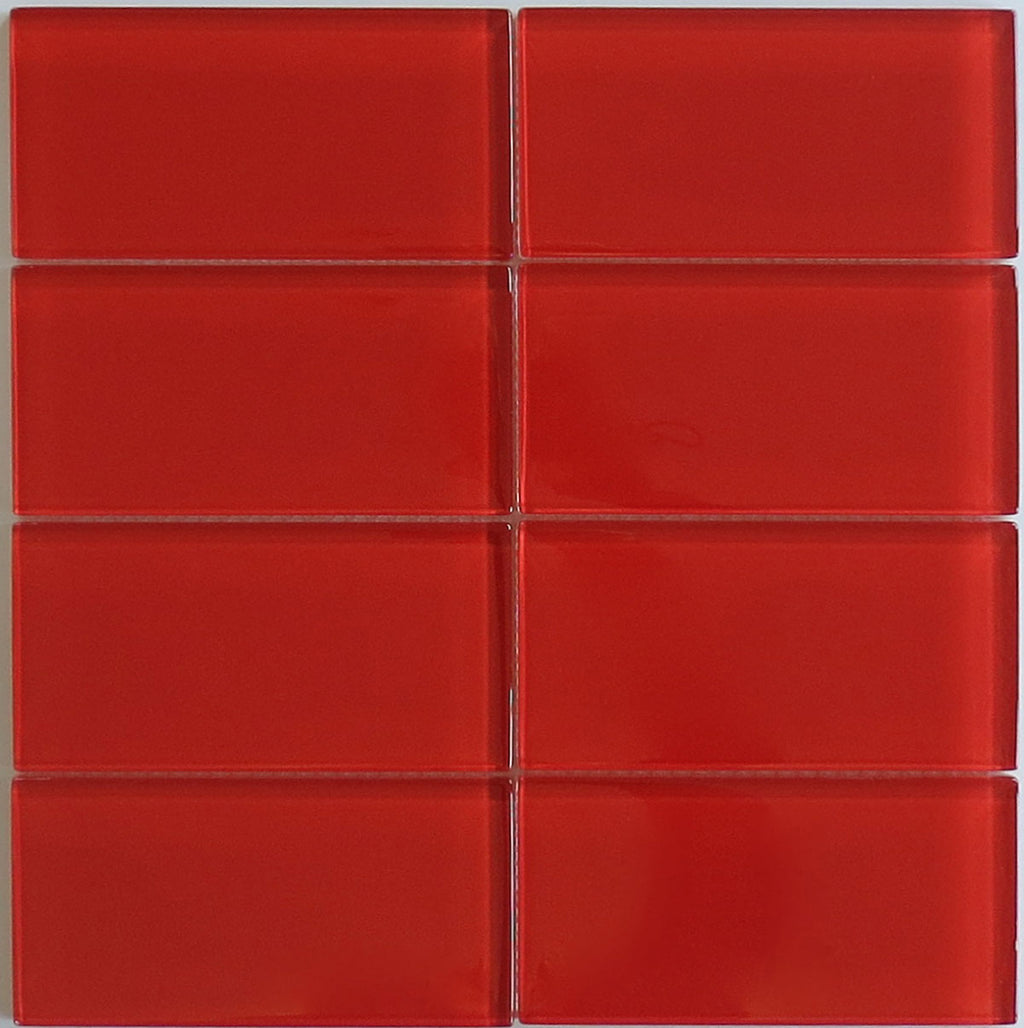Modwalls Lush Glass Subway Tile | Cherry 3x6