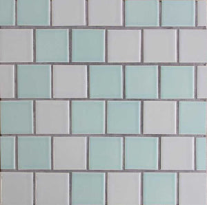 Modwalls Clayhaus Ceramic Mosaic Offset Square 2x2 Tile | 103 Colors