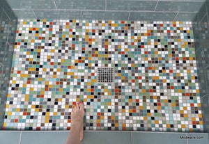 Modwalls Brio Glass Mosaic Tile | Highlands Blend