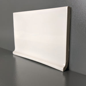 Modwall sKiln Ceramic Cove Base Trim Tile | 103 Colors