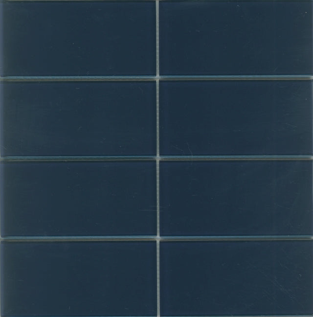 Lush Glass Subway Tile | Midnight 3x6