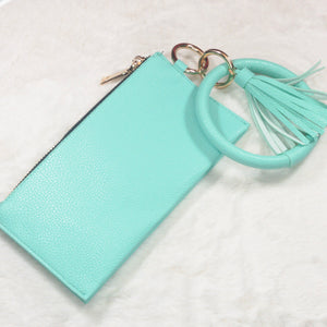Turquoise Bracelet Key Chain Wristlet with Tassel - True Bliss Boutique