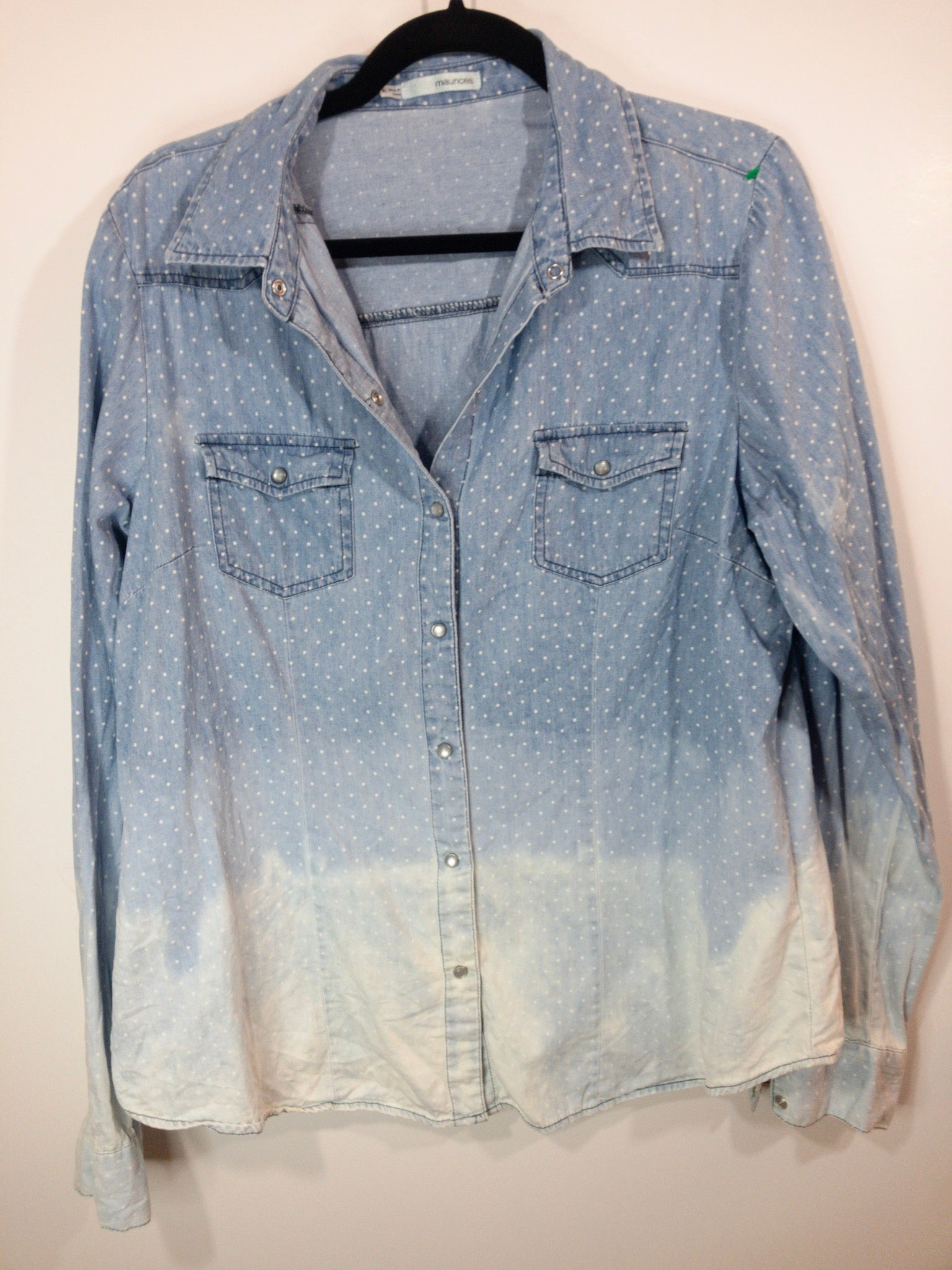 Distressed Bleached Shirt - Maurice's - Juniors Size XL - True Bliss Boutique