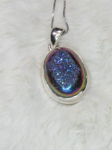 Mermaid Druzy Pendant TB-172C - True Bliss Boutique