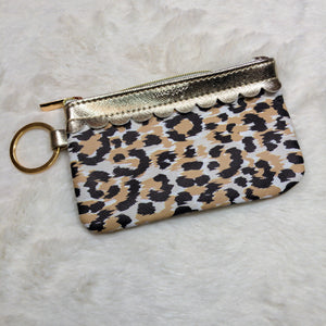 Leopard Key Ring Wallet with ID Window - True Bliss Boutique