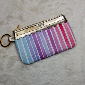 Rainbow Key Ring Wallet with ID Window - True Bliss Boutique