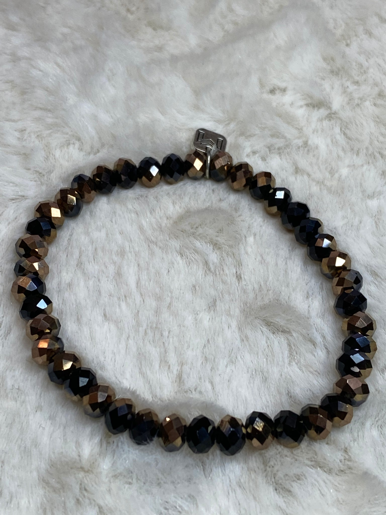 Mix Mercantile Bracelet - Black and Brown 6mm Bead