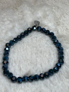 Mix Mercantile Bracelet - Deep Teal 6mm Bead