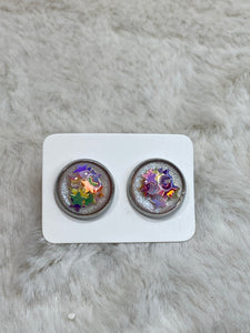 12mm Floating Star Cabochon Earring