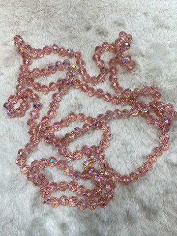 60 inch Necklace - 8mm in Tickle Me Pink