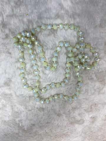 36 inch Necklace - 8mm Bead in Off White