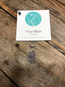 Natural Druzy Pendant TB-170B - True Bliss Boutique