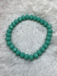 Crystal Beaded Fashion Bracelet - Light Turquoise