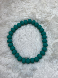 Crystal Beaded Fashion Bracelet - Turquoise Matte
