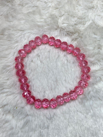 Crystal Beaded Fashion Bracelet - Pink Flamingo