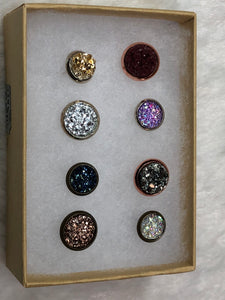 Cork Board Druzy Push Pins - Set of 8 - True Bliss Boutique