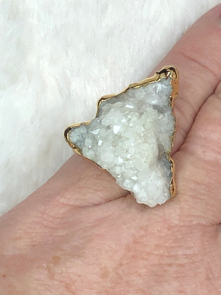 Charlene K White Druzy Ring - True Bliss Boutique