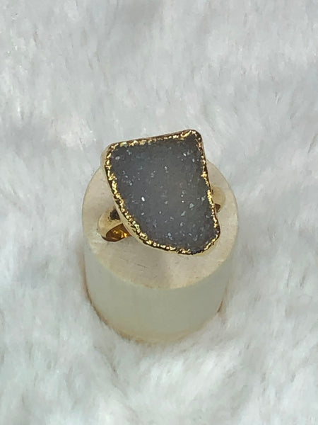 Charlene K Druzy Grey Ring - True Bliss Boutique