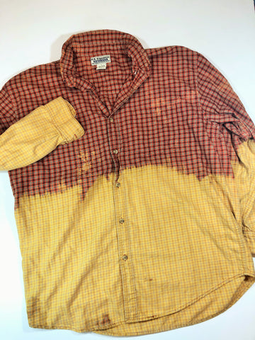 Distressed Bleached Shirt - US Expedition - Men's Large - True Bliss Boutique