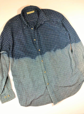 Distressed Bleached Shirt  - Naturallife - Men's Large - True Bliss Boutique
