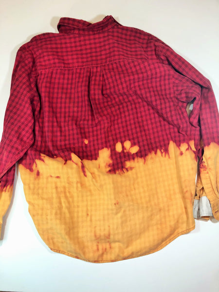 Distressed Bleached Shirt - High Sierra - Men's Large - True Bliss Boutique
