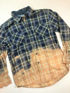 Distressed Bleached Shirt  - Clearwater - Men's Large - True Bliss Boutique