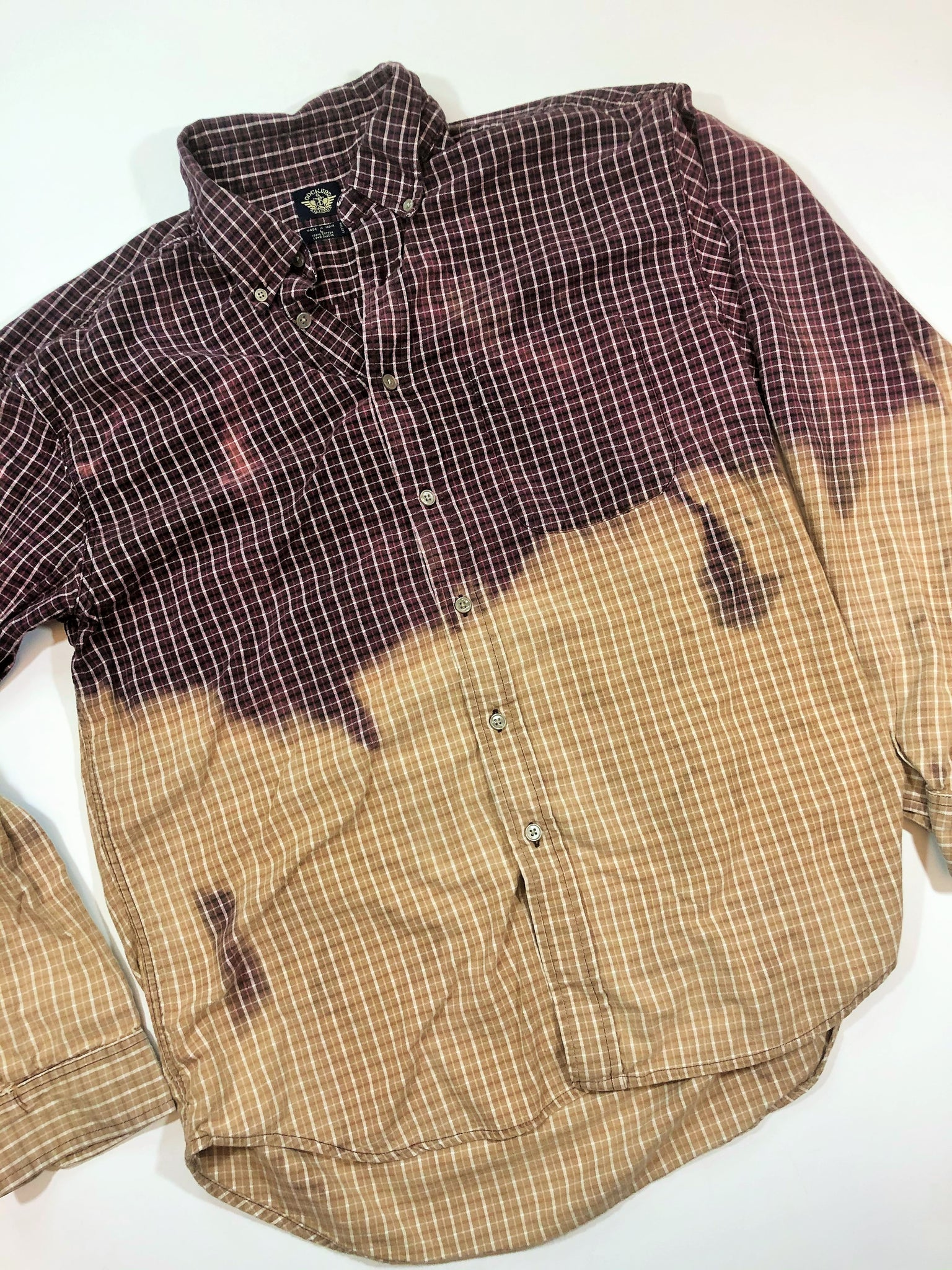 Distressed Bleached Shirt  - Dockers - Men's Large - True Bliss Boutique