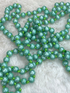 60 inch Necklace - 8mm in Lightweight Mint - True Bliss Boutique
