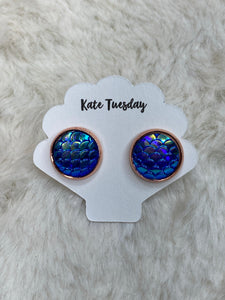 12mm Mermaid Earrings in Rose Gold - True Bliss Boutique
