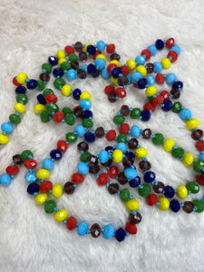60 inch Necklace - 8mm Bead in Multi Color - True Bliss Boutique