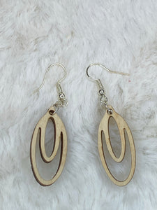 Wooden Double Drop Earrings - True Bliss Boutique