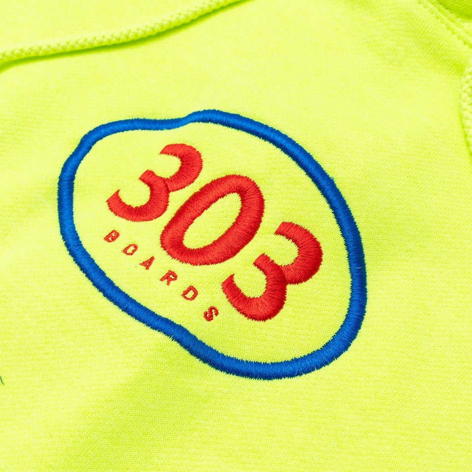 303 Boards - Oval Hoody (Neon Yellow) *SALE