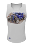 Blue Hot Rod Tank